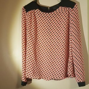 Two toned blouse